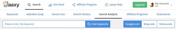 Jaaxy Keyword Research Tool - Keyword Search Analysis Tool