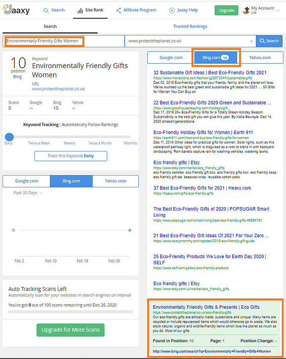 Jaaxy Keyword Research Tool - Ranked On First Page Of Bing
